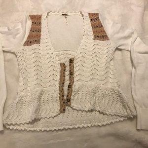 Free People Crochet Cardigan - S